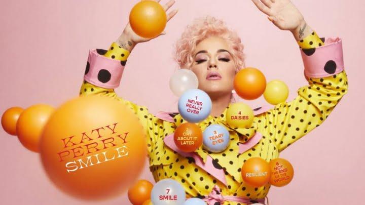 Arte de divulgação do álbum Smile, de Katy Perry.